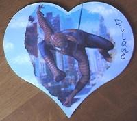 plaque de porte coeur spiderman pour dilane
