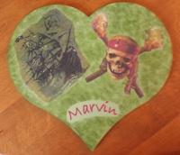 plaque de porte coeur pirates des caraibes pour marvin