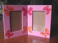 double cadre papillons pour pucinelle
