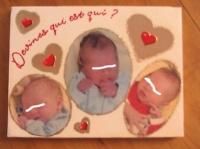 tableau noel 3 bébés