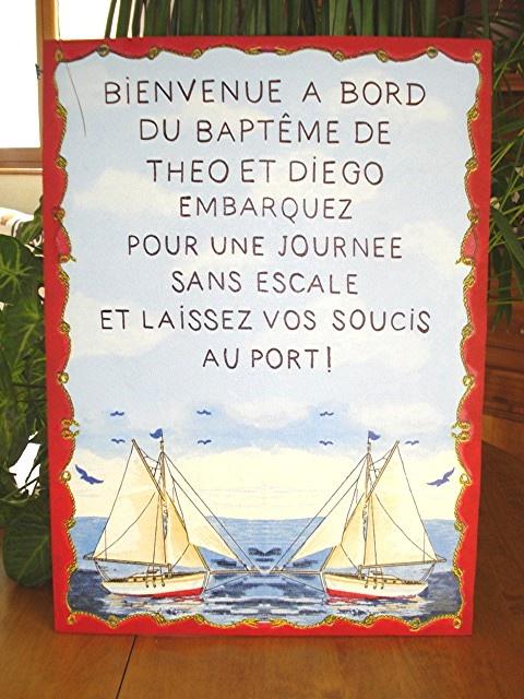 baptéme théme mer pour soleil