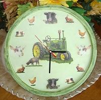 Grande horloge théme ferme
