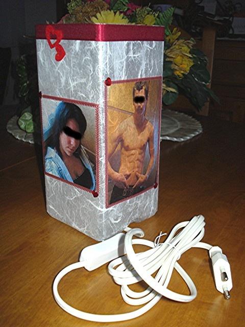 lampe de chevet personalisée pour la saint valentin