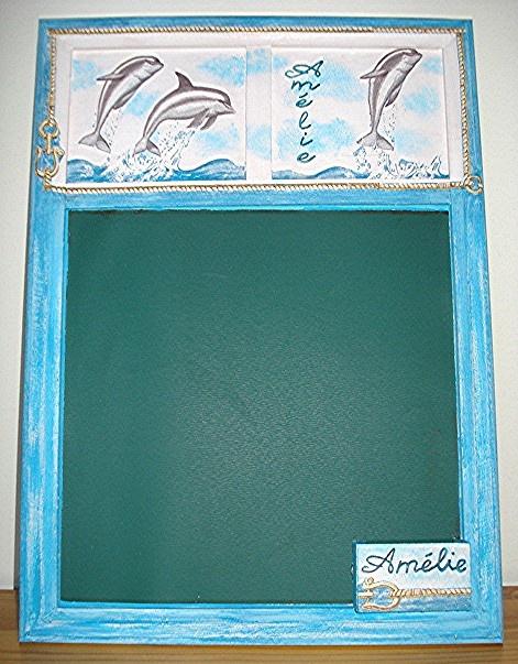 Tableau mémo dauphins pour Amélie
