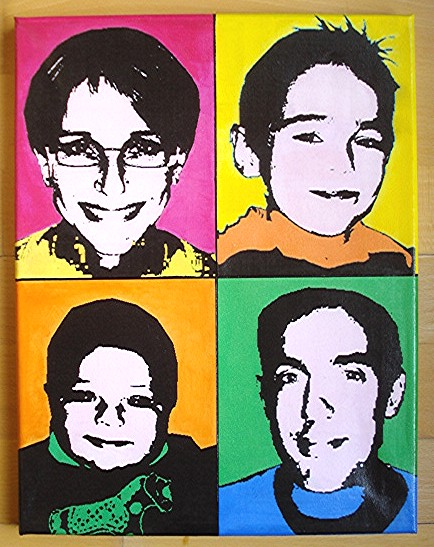 tableau photo pop art personnalis style andy warhol mes cr ations coralie74500 photos. Black Bedroom Furniture Sets. Home Design Ideas