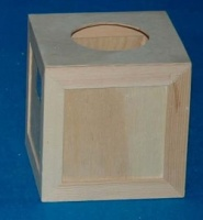 N71 Boite à mouchoir carrée avec glissière.1 DISPO