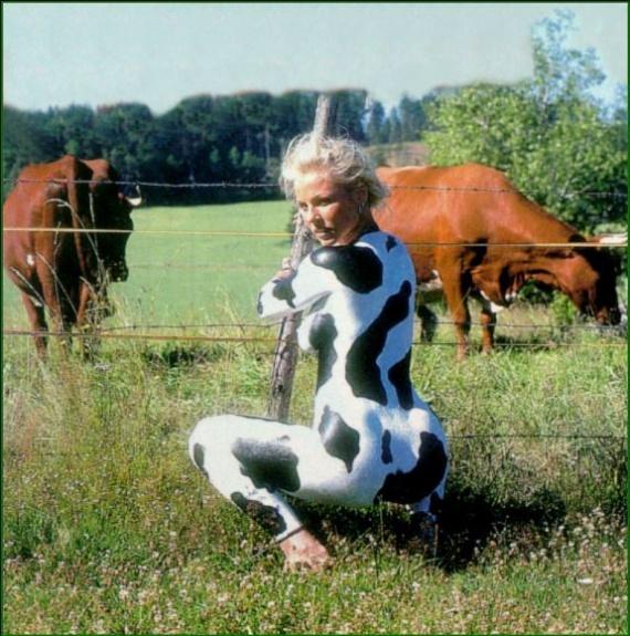 ho la vache ! 3 - peinture sur corps humain - fabien62300 - Photos - Club Doctissimo