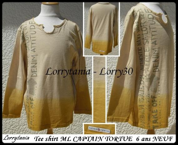 6A T shirt ML CAPTAIN TORTUE 14 € NEUF