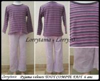 6A Pyjama mauve TCF 6 €