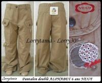 6A Pantalon ALPHABET NEUF 10 €