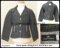 6A Veste SERGENT MAJOR 10 € jeans