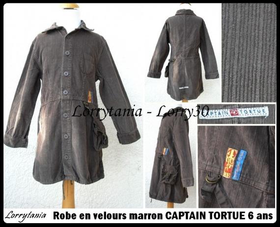 6A Robe CAPTAIN TORTUE 7 € velours marron