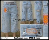 5A Pantacourt jeans BARBIE 5 €