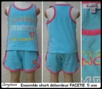 5A ensemble short FACETIE 1,50 €