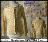 6A Chemise ORCHESTRA 3 €  jaune