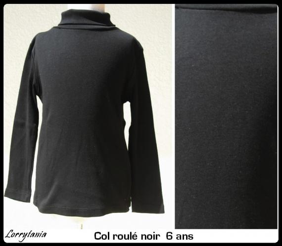 6A Col roulé noir 2,50 €