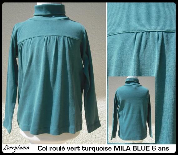6A Col roulé MILA BLUE 2,50 €  turquoise