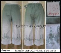 5A Pantalon LILI GAUFRETTE 15 €  NEUF
