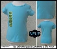 5A T shirt DOMYOS 3 € Neuf turquoise