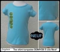 5A T shirt DOMYOS 3 € Neuf turquoise