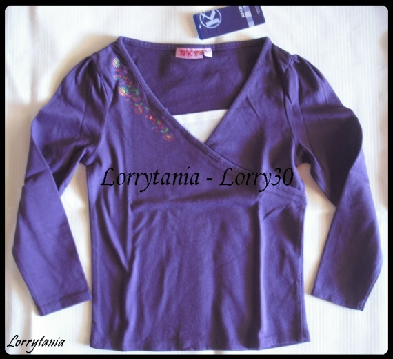 6A Tshirt ML violet NKY NEUF 3 €