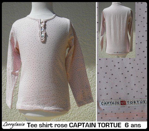 6A Tshirt rose CAPTAIN TORTUE 10 € NEUF