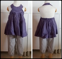 4A Ensemble tunique violette pantacourt KID KANAI
