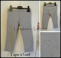 6A Legging 2,50 € court TAO gris