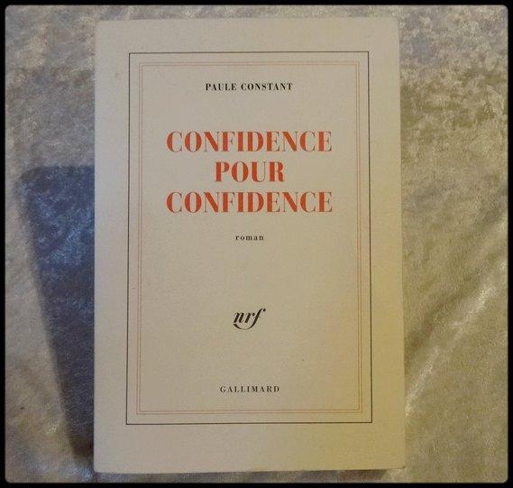 Confidence pour confidence 3 € paul CONSTANT