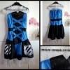 12A Robe noire et bleue MONSTER