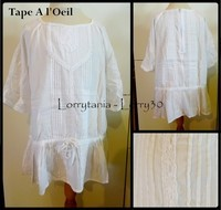 10A Blouse TAO 5 € blanche M3/4