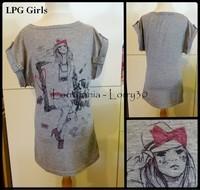 12A T shirt LPG Girls 3 € gris fille