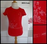 8A tee shirt rouge IKKS 2,50€