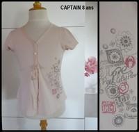 8A Tee shirt rose CAPTAIN 4,50€