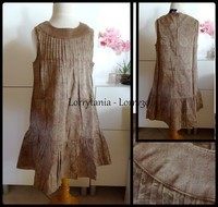 8A robe marron sans manche KIABI neuve1