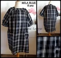 8A Robe gros carreaux noir et blanc MILA BLUE