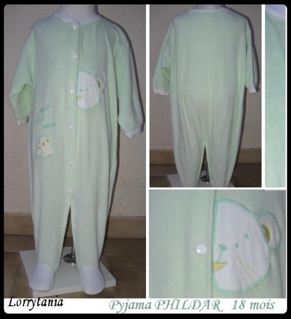 18m Pyjama vert PHILDAR 5 €