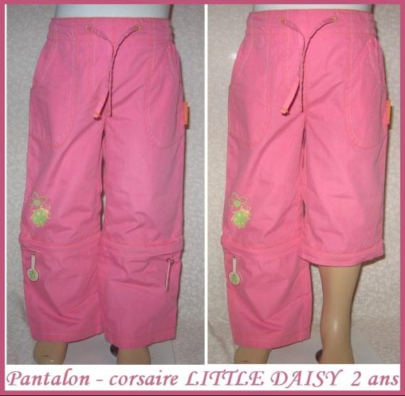 2A_pantalon-corsaire rose LITTLE DAISY 3 €