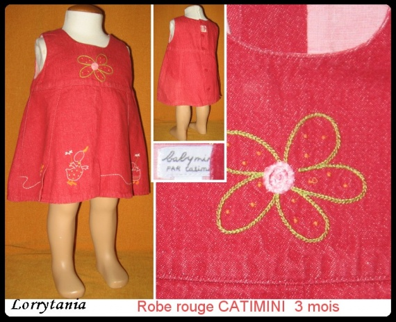 3m robe rouge CATIMINI