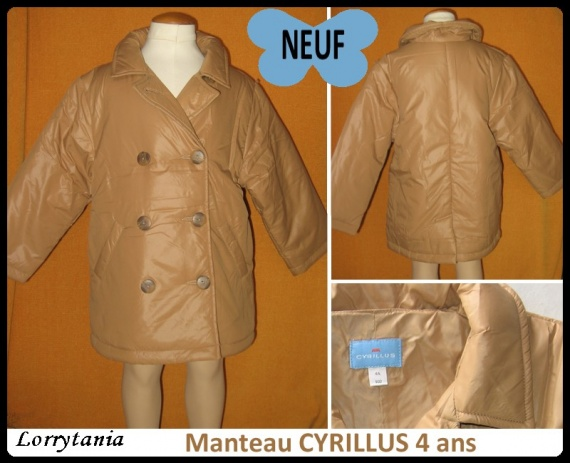 4A Manteau CYRILLUS 12 € Neuf