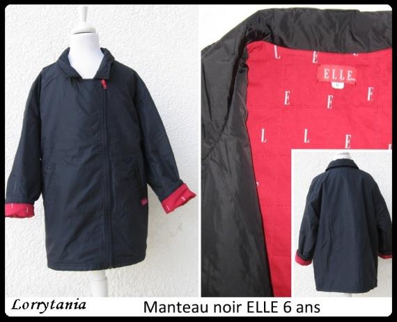 6A Manteau noir ELLE 18 €
