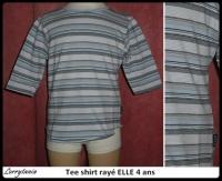 4A Tee shirt raye ELLE 5 €