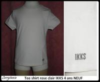 4A Tee shirt rose clair IKKS NEUF 6 €