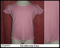 4A Tee shirt rose 1,50 €