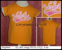 4A Tee shirt orange wakiki H&M 2,50 €