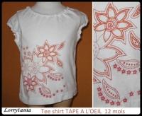 12m Tee shirt TAO 2,50 €