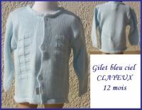 12M_gilet CLAYEUX Neuf 8 €