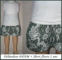 2A_Debardeur DPAM short fleurs 3 €