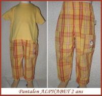 2A Pantalon ALPHABET + Tshirt 4 €