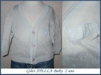 2A_gilet bleu vert STELLA Baby 3 €